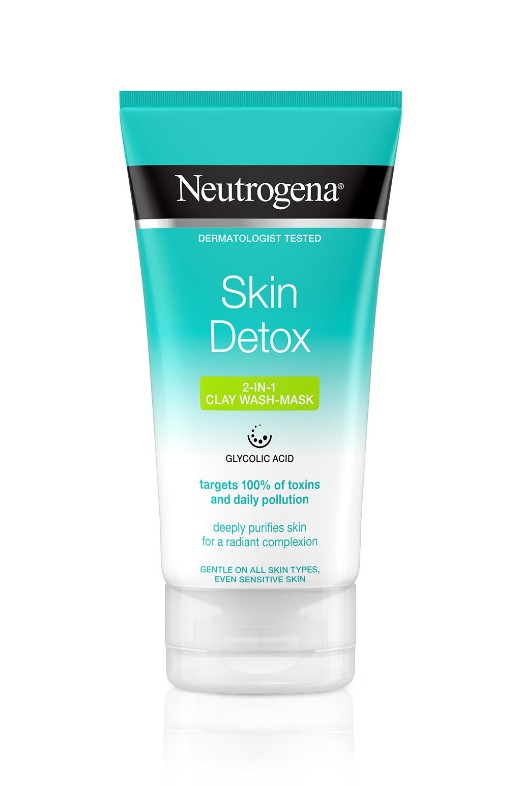 ניוטרוג'ינה®  Skin Detox תרחיץ ומסיכה 2 ב-1 עם חימר